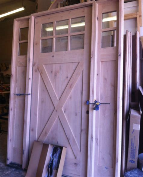 Barn Style Front Door Knotty Alder Shaker Craftsman Style Entry Door 3 0 X 8 0 With Sidelights Ex 1338 Ksr Door And