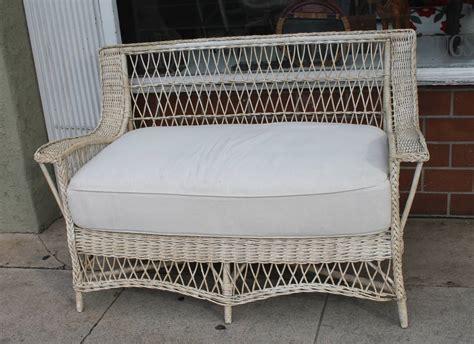 heywood wakefield sofa 1930s original cream painted heywood wakefield wicker sofa