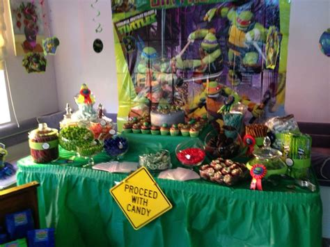 tmnt candy table tmnt leonardo pinterest candy