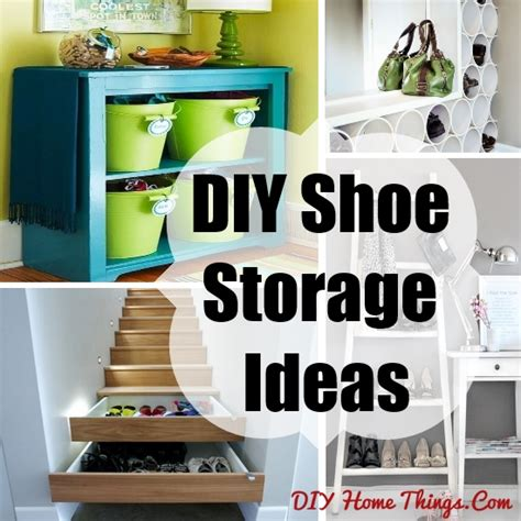 Handmade Storage Ideas - diy shoe storage ideas