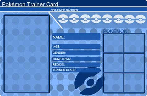 Card Template Deviantart by Trainer Card Template Blue By Khfant On Deviantart