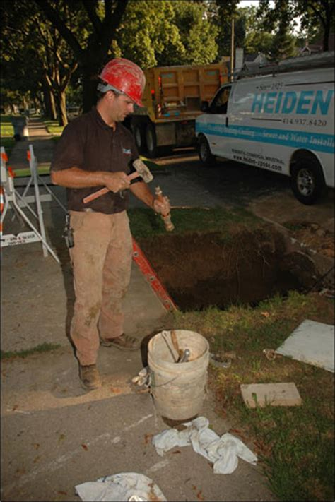 Heiden Plumbing by Curbside Service The Daily Reporter Wi Construction