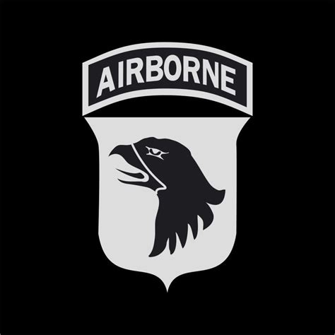 Kaos Airborne Logo 1 Cr by Us Army 101st Airborne Logo Vinyl Decal Sticker