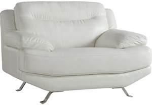 Sofia vergara castilla white leather chair chairs white