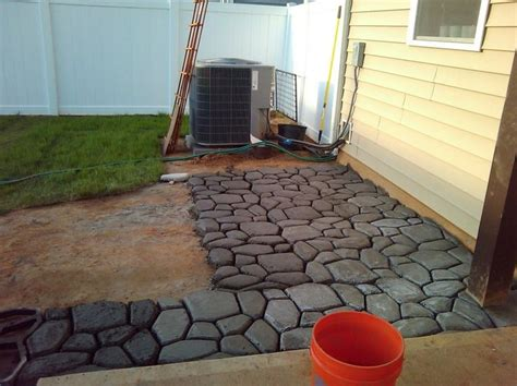 Extend Patio With Pavers Concrete Mold Patio Newsonair Org