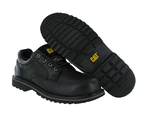 black oxford work shoes s caterpillar work shoes electric oxford black steel
