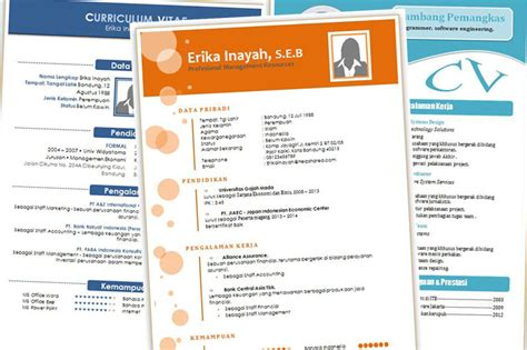 template cv menarik gratis word download cv kreatif unik dan menarik format doc word part 2