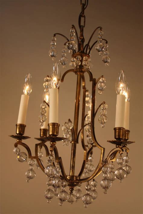 French Teardrop Crystal And Bronze Chandelier For Sale At Glass Teardrop Chandelier