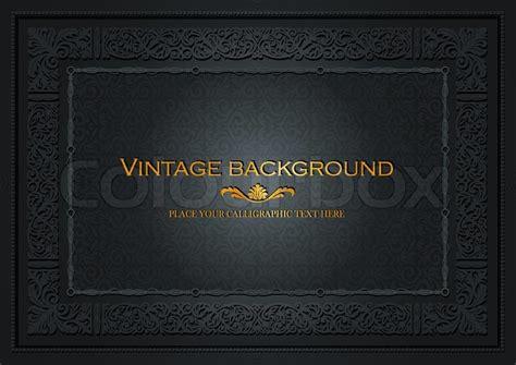 vintage layout book vintage dark background antique style frame victorian