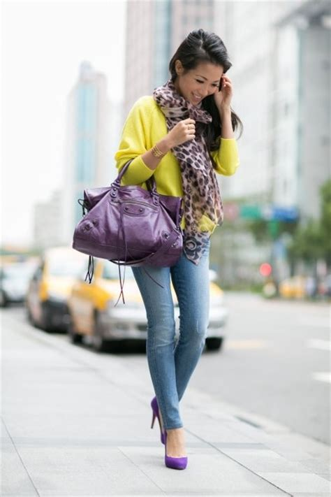 split complementary colors fashion style purple outfits