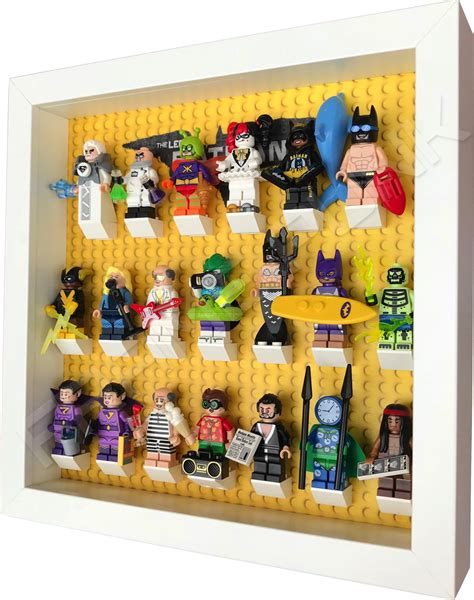 Frame Lego Minifigure Series 15 Display lego batman minifig display frame white frame