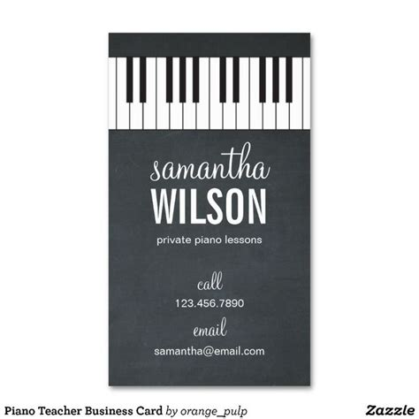 free piano business card template piano business card paper teaching and business