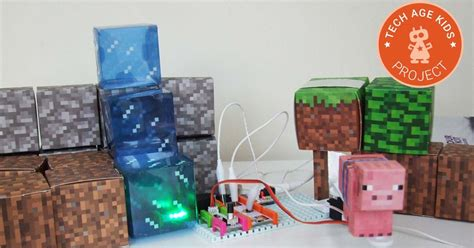 Minecraft Papercraft World - rule your minecraft room with littlebits