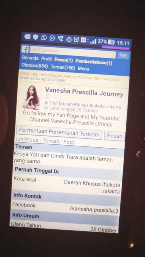 membuat akun facebook palsu beredar akun facebook palsu atas namanya vanesha