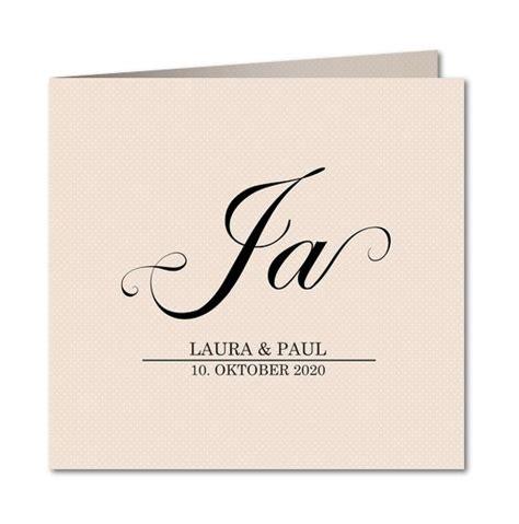 Einladung Hochzeit Schlicht by Schlicht Und Klassisch Unsere Einladungskarte Quot Ja Wort