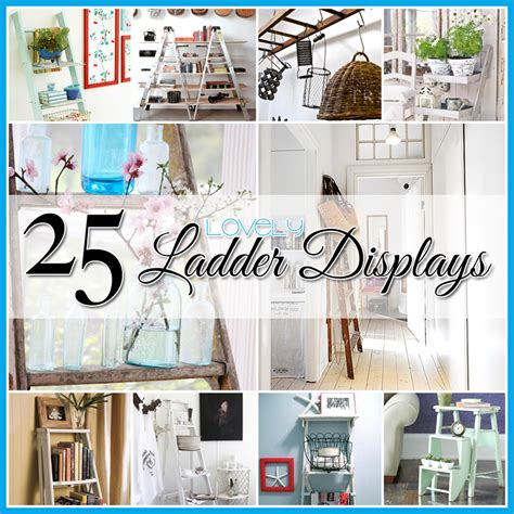 cheap ways to decorate home decorating with ladders 25 creative ways the cottage market