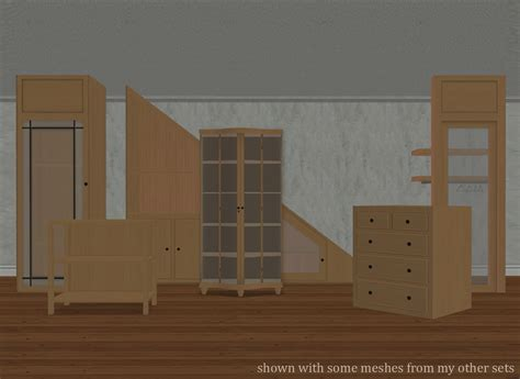 Dining Room Set With Hutch by Mod The Sims Built In Hutch Storage Set