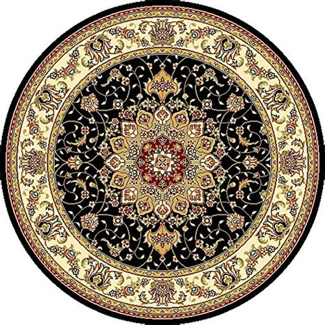 rugs 5 diameter safavieh lyndhurst collection lnh329a black and ivory area rug 5 3 inches in