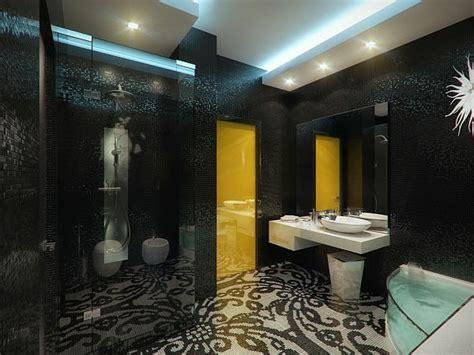 Luxury Master Badezimmer by Luxus Apartment In Gelb Und Schwarz Geometrix Entworfen