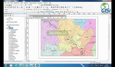 tutorial mapa tematico arcgis videotutorial 12 presentacion de mapas en arcgis 10 youtube
