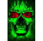 Cool Skulls On Fire Pirate Skull Http//cbpiratecom/main/lmiller7