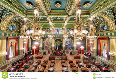 House Building Plans And Prices Pennsylvania State Senate Chamber Stock Image Image
