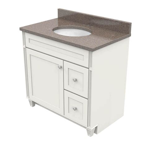 Kraftmaid Vanity Tops by Kraftmaid 36 In Vanity In Dove White With Quartz