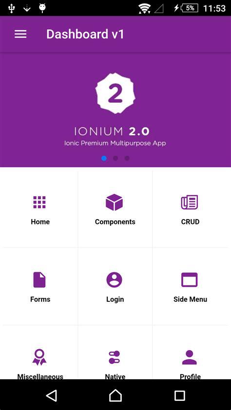 ionic card teaser template ionium 2 ionic multipurpose app templates ionic marketplace