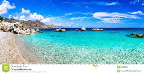 acquisto isole greche spiagge stupefacenti delle isole greche fotografia stock