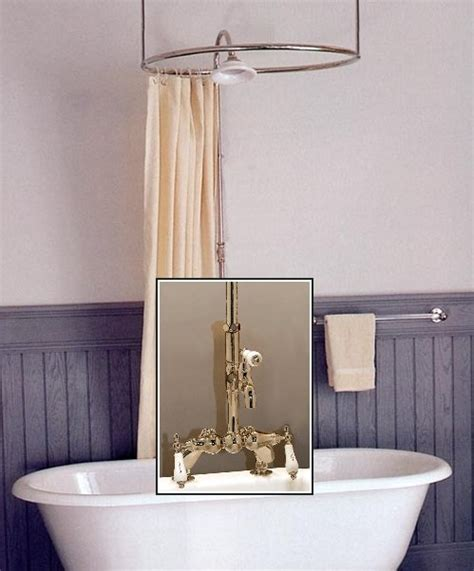 Kingston Brass Faucet Parts Clawfoot Tub Deckmount Round Shower Enclosure Combo W Leg