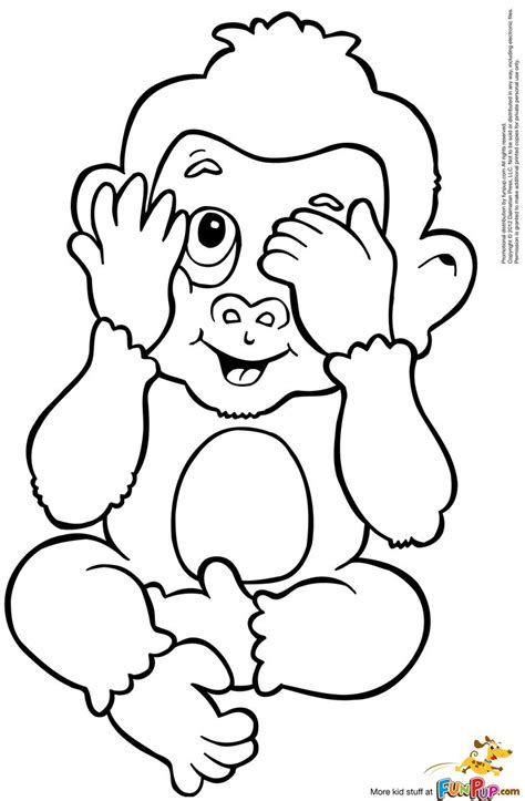peek a boo monkey 0 00 coloring pages embroidery clip