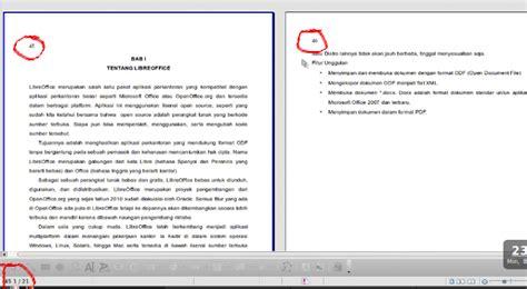 Cara Membuat Nomor Halaman Secara Manual   membuat nomor halaman pada libreoffice writer secara