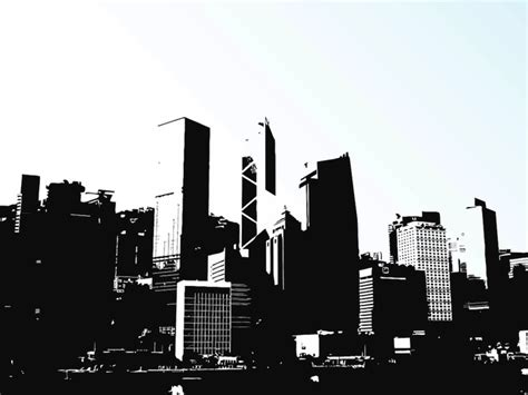 Www Skyline Garages by Hong Kong City Skyline Buildings Vector Free