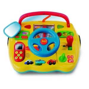 Steering Wheels Toys Electronic Dashboard With Steering Wheel Educational
