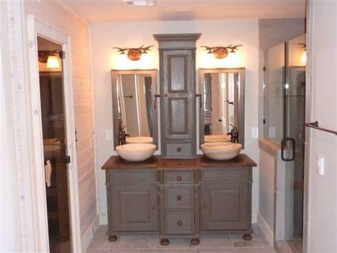 Bathroom Vanities With Tower Storage Custom Pine Bathroom Vanity Storage Tower
