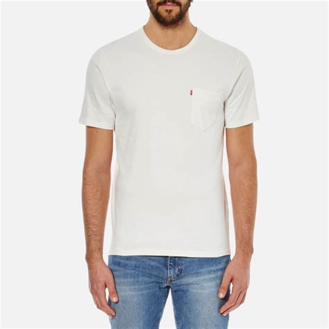 T Shirtbajukaosdistropolopakaianpria Levis 1 levi s s sunset pocket t shirt white free uk delivery 163 50