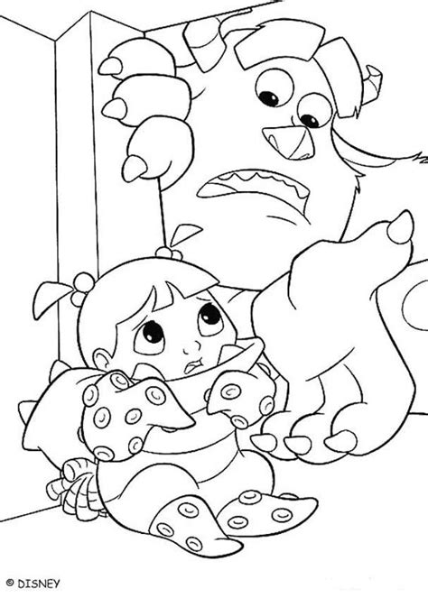 monsters inc coloring pages sulley and boo 1