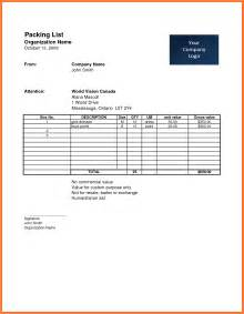 Commercial Packing List Template by Doc 422464 Shipping Packing List Template Shipping