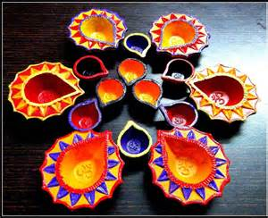 Handmade Diya Decoration - 20 beautiful diwali decoration ideas for office and home