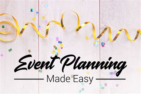 event design and planning project management and event planning