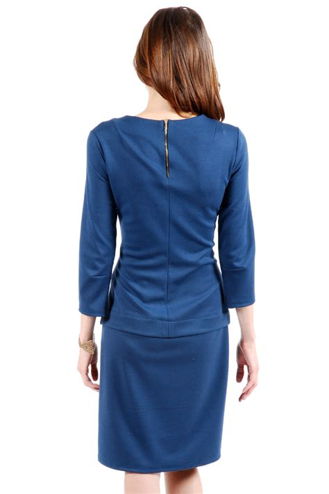 draped collar lisa pearl draped collar dress from montmartre by