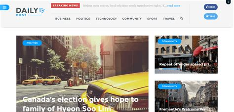 newspaper theme squarespace daily post wordpress theme download review 2018