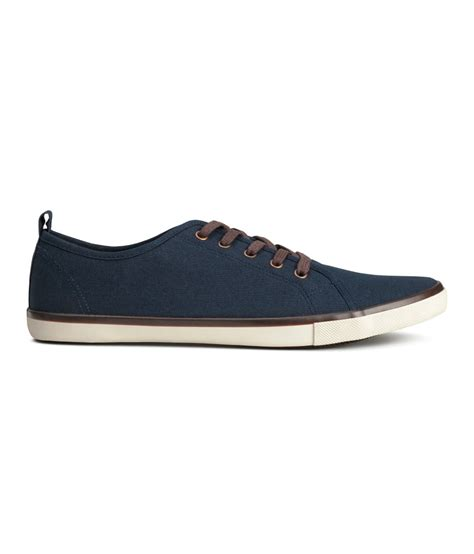 h m mens sneakers h m sneakers in blue for lyst
