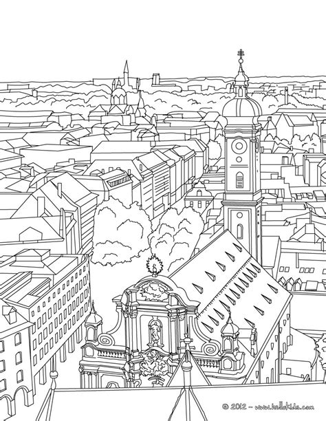 coloring pages of places around the world st paul church of frankfurt coloring pages hellokids com