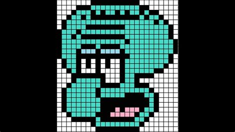 how to make minecraft pixel templates minecraft pixel template squidward