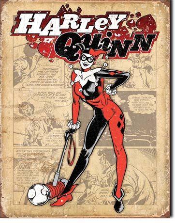 Retro Quinn tin sign harley quinn retro