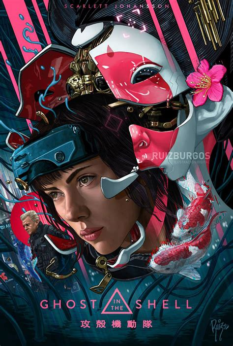 film ghost synopsis ghost in the shell by ruiz burgos movie posters