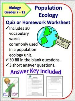 Population Ecology Worksheet Answer Key