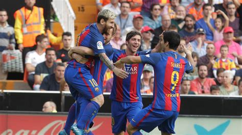 barcelona result valencia 2 3 barcelona result report goals highlights