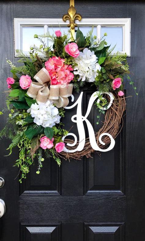 front door wreath ideas 25 best ideas about front door monogram on pinterest